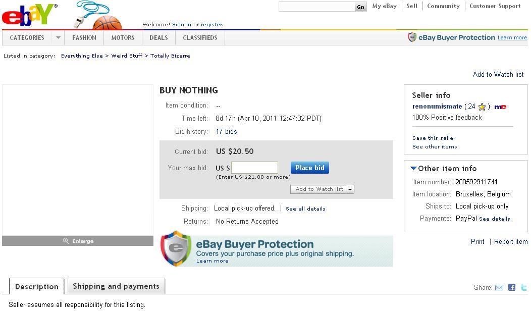 Bei Ebay Gibts Derzeit Nichts Zu Kaufen Lothars Blog